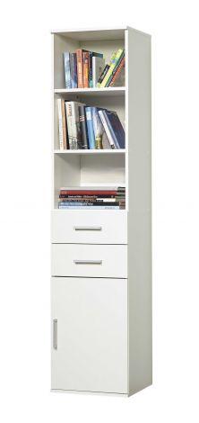 Bibliothèque Ronny 1 porte & 2 tiroirs - blanc
