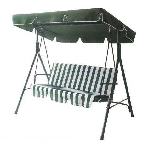 Balancelle Pardo avec parasol - vert/blanc