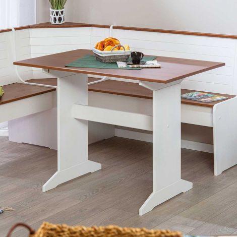 Table à manger Cisse 110x70 - blanc/brun