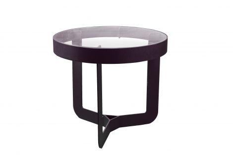 Table d'appoint Douglas ø41x40cm - noir/chêne
