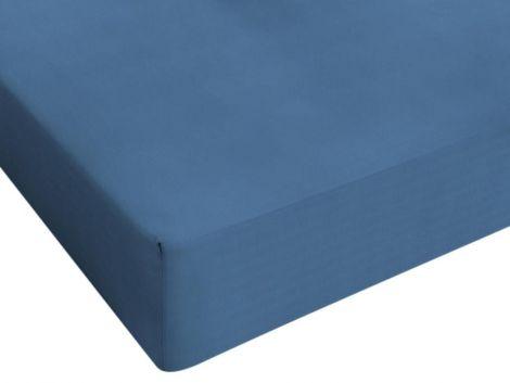 Drap-housse Jersey bleu 80/90/100x200cm
