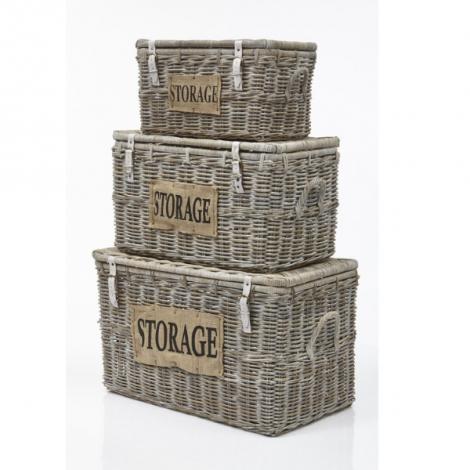 Lot de 3 paniers de rangement Storage - koboo/white wash