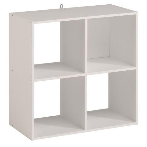 Cube de rangement Cubicub avec 4 niches - blanc