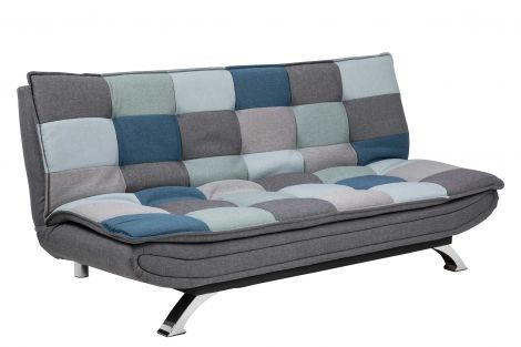 Canapé-lit Trust - patchwork/chrome