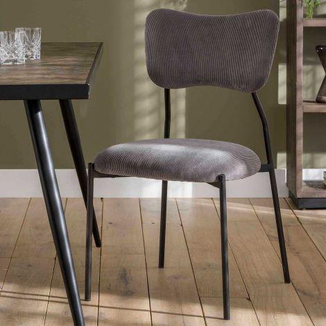 Set de 4 chaises Tibo - gris foncé