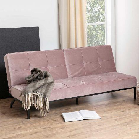Canapé-lit Giovanni - vieux rose/noir