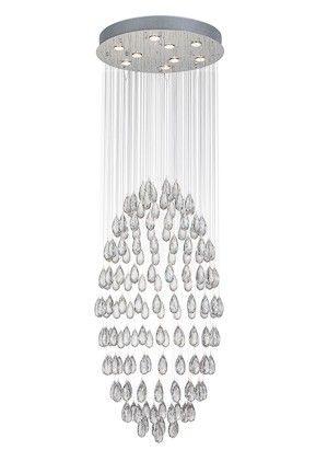 Suspension Drop Ø60cm - chrome - 9x50w GU10