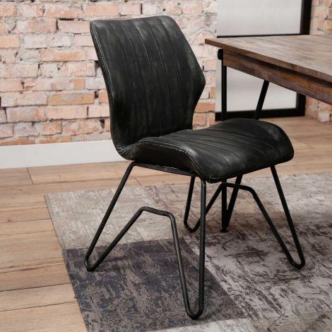 Set de 2 chaises Brix - anthracite