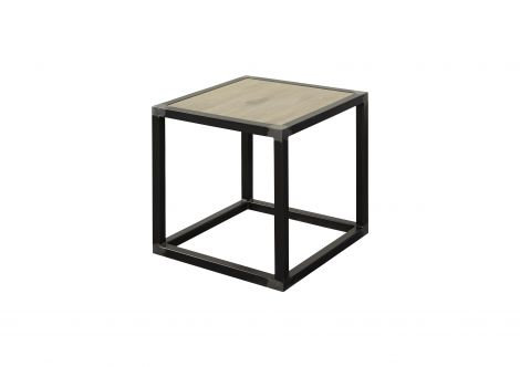 Table d'appoint Diva 40x40cm industriel - blacksmith