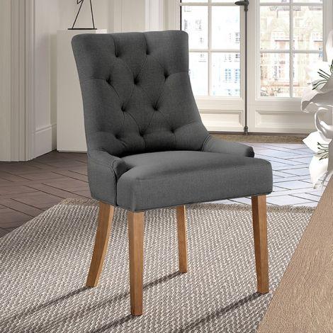 Lot de 2 chaises Anny - anthracite