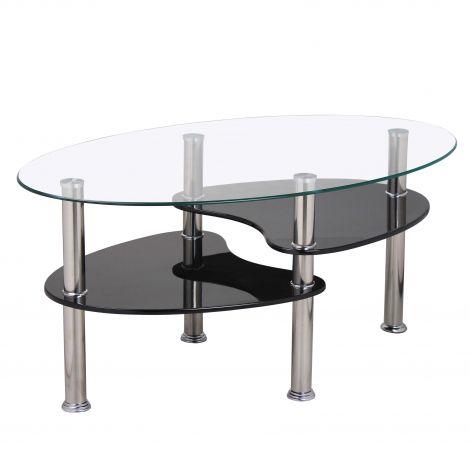Table basse Gordon verre - noir