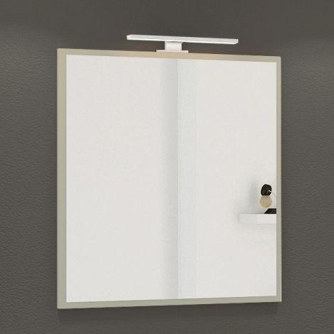 Miroir Hansen 60 cm avec éclairage - gris