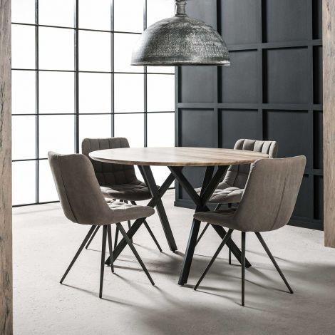 Table à manger Vie Ø120 - chêne