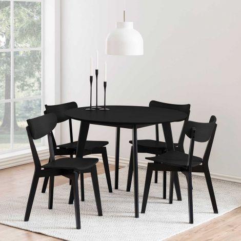 Table à manger Rover Ø105 - noir