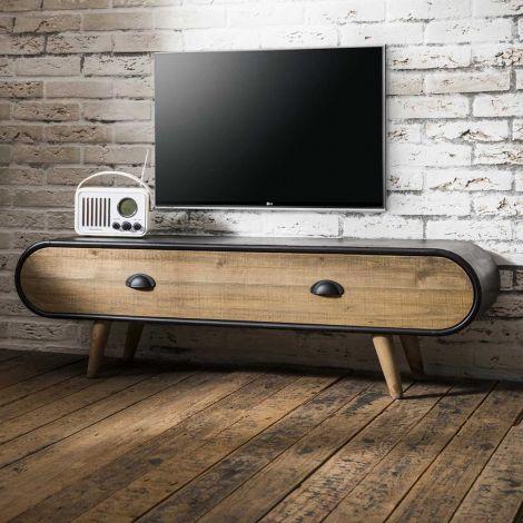 Meuble tv Trixie 120cm - brun/noir