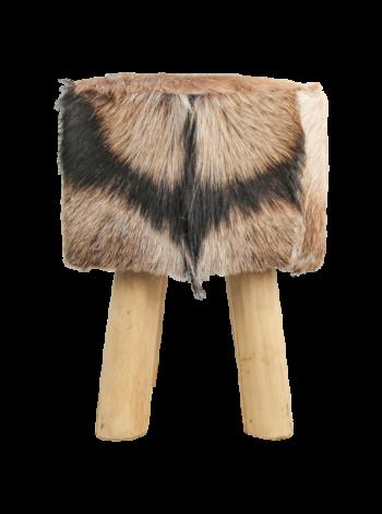 Repose-pied carré - 33x33 cm - peau de chèvre