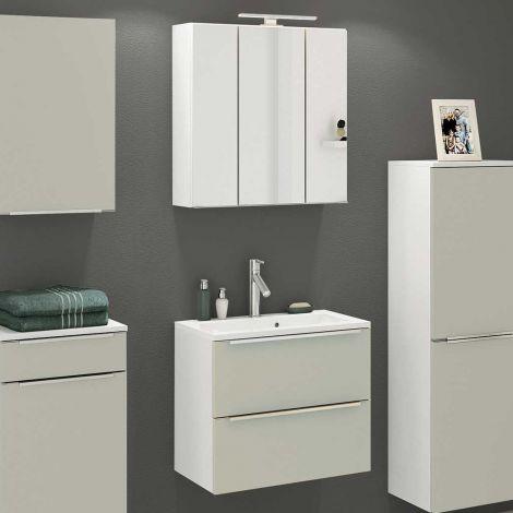 Ensemble salle de bains Hansen 9 60cm - gris/blanc