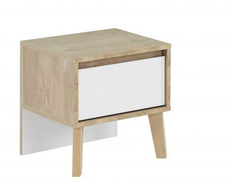 Table de chevet Lina 1 tiroir - blanc