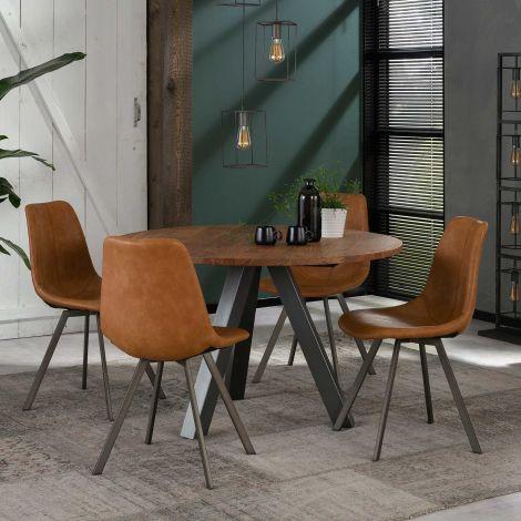 Table à manger Cassandra ø120 cm - acacia