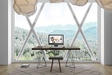Table Multis 180cm - noyer/noir