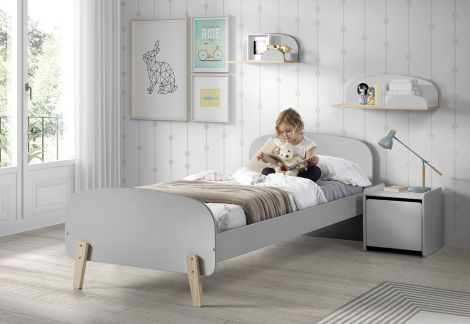 Lit Kiddy 90x200 - gris clair