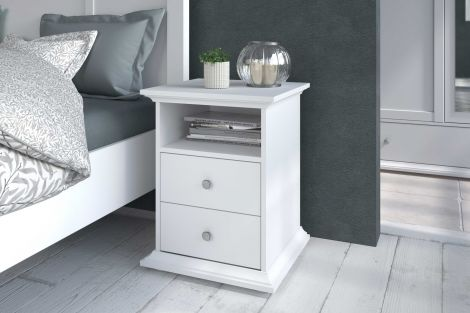 Table de chevet Morgane campagne - blanc
