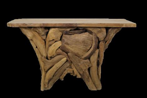 Tablette latérale Root Temple - teck vierge