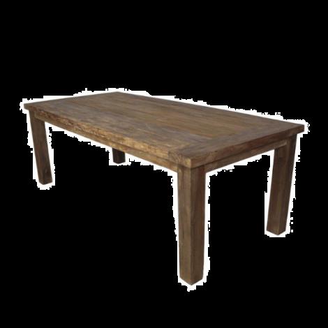 Table de jardin Napoli 180x90cm en teck - naturel
