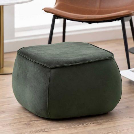 Pouf Mirza 60x60 - vert foncé