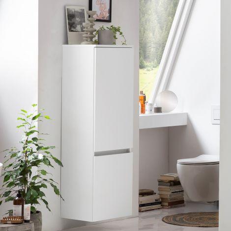 Colonne Kornel/Pisca 40cm 2 portes - blanc