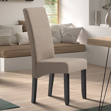 Lot de 2 chaises Joan polyester - taupe