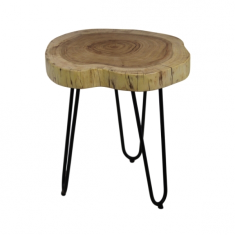 Table d'appoint Live Edge large - acacia/fer