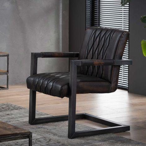 Lot de 2 fauteuils Grins - brun