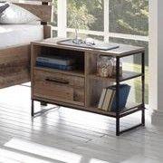 Table de chevet Kemar avec 1 tiroir - vieux style