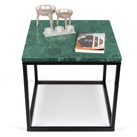 Table d'appoint Prairie - marbre vert/acier