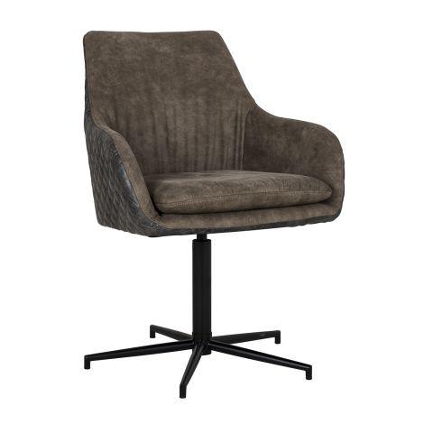 Chaise pivotante Lasso - brun