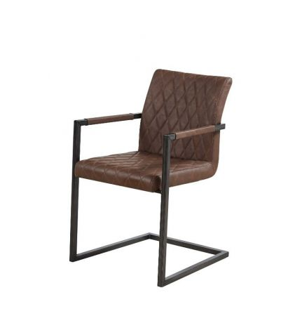 Lot de 2 chaises Britt - brun