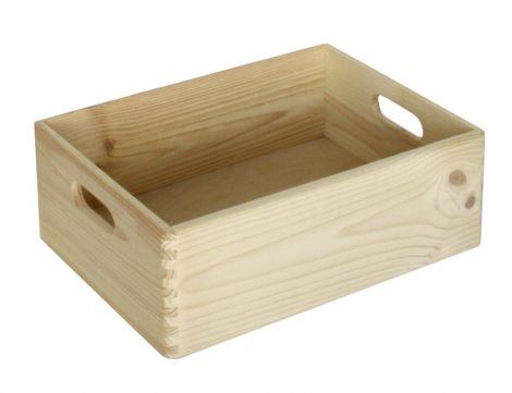 Caisson à jouets Maxine en bois 20x30x14
