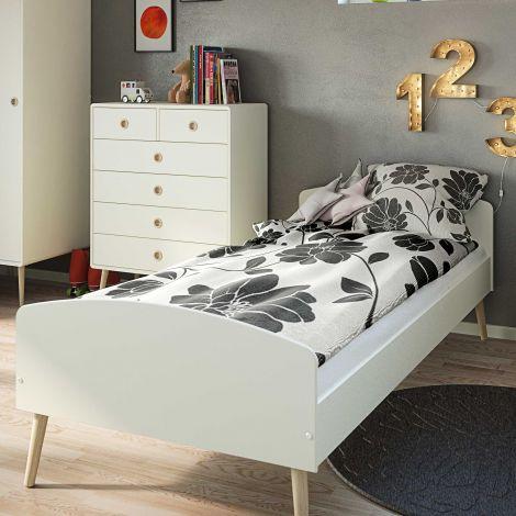 Lit simple Gustaf 90x200 - blanc