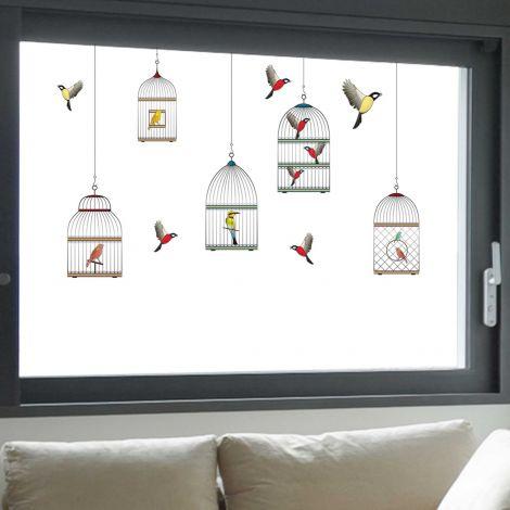 Stickers pour fenêtre Cages