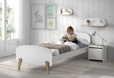 Lit Kiddy 90x200 - blanc
