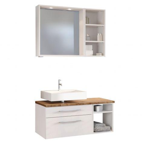 Ensemble salle de bains Dasa 1 gauche - blanc