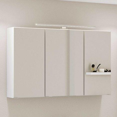 Armoire de toilette Hansen 100cm 3 portes - blanc