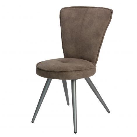 Jeu de 2 chaises Soraya - brun