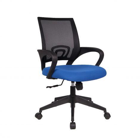 Chaise de bureau Landa - bleu/noir