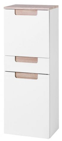 Armoire haute/large Siena 40cm - blanc/brun