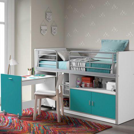 Lit combiné Bonny 91 - turquoise