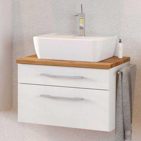 Meuble lavabo Dasa 60cm à 2 tiroirs - blanc