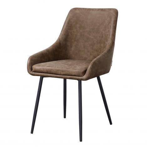 Lot de 4 chaises Jessie - brun