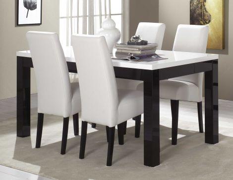 Table à manger Roma 160 cm - noir/blanc